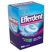 Efferdent Anti-Bacterial Denture Cleanser Tablets 90CT Box