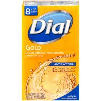 Dial Bath Soap Antibacterial Gold 8PK of 4oz Bars