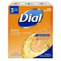 Dial Bath Soap Antibacterial Gold 3PK of 4oz Bars