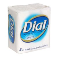 Dial Bath Soap Antibacterial White 3PK of 4oz Bars