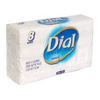 Dial Bath Soap Antibacterial White 8PK of 4oz Bars