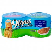 9 Lives Wet Cat Food Chicken Dinner 4PK of 5.5oz Cans 22oz PKG