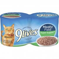 9 Lives Wet Cat Food Super Supper 4PK of 5.5oz Cans 22oz PKG