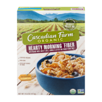 Cascadian Farm Hearty Morning Fiber Cereal 14.6oz Box product image