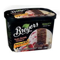 Breyers All Natural Ice Cream Vanilla, Chocolate, Strawberry 1.5 QT product image