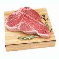 Beef Loin Porterhouse Steak Bone-In USDA Choice Approx 1.5LB PKG