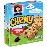 Quaker Chewy Granola Bars Chocolate Chip 8CT 6.7oz product image