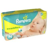 Pampers Newborn Swaddlers (up to 10 LB) 32CT PKG