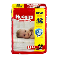 Huggies Snug and Dry Diapers Size 1 (8-14LB) Jumbo Pack 44CT PKG product image