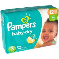 Pampers Baby Dry Size 3 (16-28LB) Jumbo Pack 32CT PKG