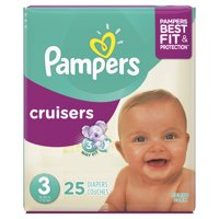Pampers Cruisers Size 3 (16-28LB) 28CT PKG
