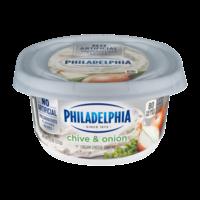Philadelphia Flavors Cream Cheese Chive and Onion 7.5oz Tub