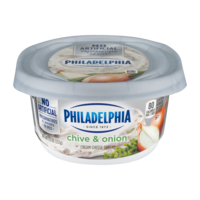 Philadelphia Flavors Cream Cheese Chive and Onion 8oz. Tub