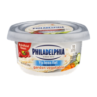 Philadelphia Cream Cheese Garden Vegetable 1/3 Less Fat  8oz Tub product image