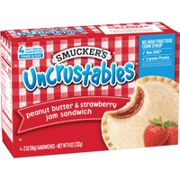 Smucker's Uncrustables Peanut Butter and Strawberry Jam 4CT