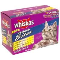 Whiskas Tender Bites Variety Pack Favorites 12Pk of 3oz Bags