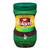 Folgers Classic Decaffeinated Instant Medium Roast 8oz Jar