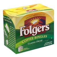 Folgers Classic Decaffeinated Singles 19CT 3oz Box product image