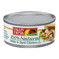 Valley Fresh 100% Natural White and Dark Chicken in Water 10oz Can