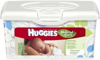Huggies Natural Care Baby Wipes Fragrance Free 64CT Bin