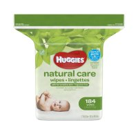 Huggies Natural Care Baby Wipes Fragrance Free Refill 184CT