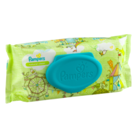 Pampers Natural Clean Wipes Unscented 64CT