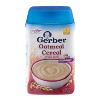 Gerber Oatmeal Cereal Single Grain 8oz Tub