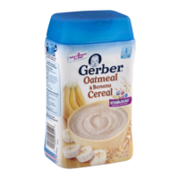 Gerber Cereals Whole Grain Oatmeal with Bananas 8oz Box product image