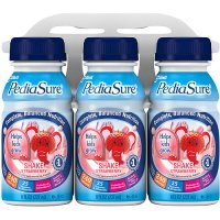 PediaSure Nutrition Beverage Shake Strawberry 6PK of 8oz BTLS