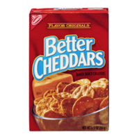 Nabisco Better Cheddars Crackers 6.5oz Box product image