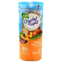 Crystal Light Iced Tea Mix Peach Makes 12QT 1.5 oz Can