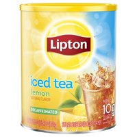 Lipton Iced Tea Mix Decaffeinated Lemon Sugar Makes 10 Quarts 26.5oz Can