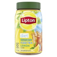 Lipton Iced Tea Mix Diet Decaf with Lemon Makes 10 Quarts 3oz Can