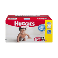 Huggies Snug & Dry Diapers Size 3 (16-28LB) 100CT Box