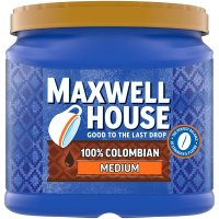 Maxwell House Ground Coffee 100% Colombian Medium Dark 28oz Can