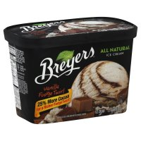 Breyers All Natural Ice Cream Vanilla Fudge Twirl 1.5QT product image