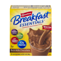 Carnation Instant Breakfast Essentials Rich Milk Chocolate 10CT 12.6oz Box
