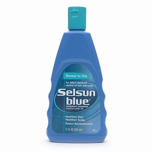 Selsun Blue Dandruff Shampoo Normal to Oily Hair 11oz BTL