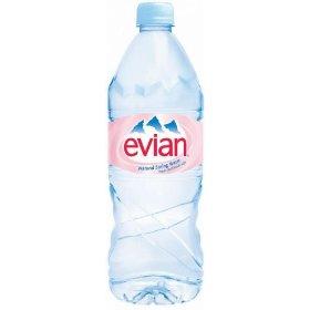 Evian Spring Water 1LTR 33.5oz Bottle