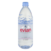 Evian Spring Water 1LTR 33.5oz Bottle