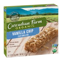 Cascadian Farm Organic Chewy Granola Bars Vanilla Chip 6ct 7.4 oz box