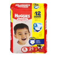 Huggies Snug and Dry Diapers Size 6 (Over 35LB) Jumbo Pack 21CT PKG product image