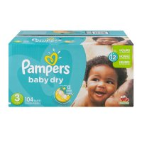 Pampers Baby Dry Size 3 (16-28LB) 104CT Box