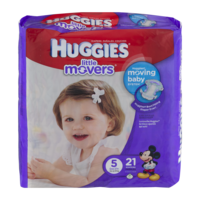Huggies Little Movers Diapers Size 5 Jumbo Pack 21CT PKG