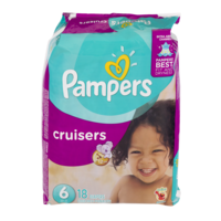 Pampers Cruisers Diapers Size 6 (Over 35LB) Jumbo Pack 18CT PKG product image