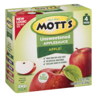 Mott's Snack & Go Unsweetened Applesauce 3.2 oz Pouches 4Count PKG product image