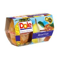 Dole Fruit Bowls Mixed Fruit 4oz. EA 4CT 16oz PKG