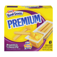 Nabisco Handi Snacks Premium Breadsticks 'n Cheese Dip 6CT 6.54oz PKG