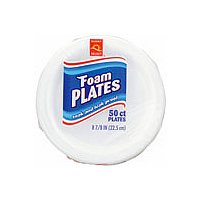 Store Brand 8.75 Inch Foam Plates 50CT