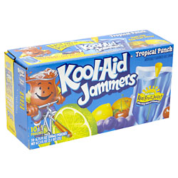 Kool-Aid Jammers Tropical Fruit Punch 10CT of 6oz EA